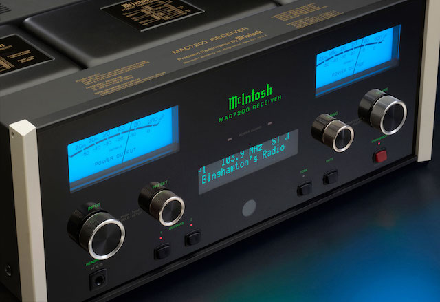 McIntosh MAC7200 front angle detail
