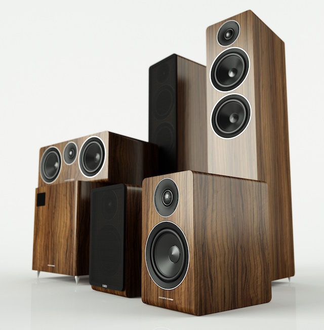Acoustic Energy 100 Series Group Shot Walnut