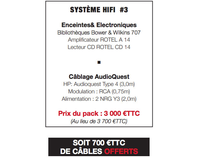 BW Rotel Audioquest offre3