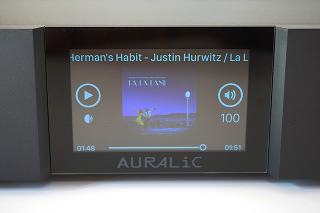 auralic aries G1 test screen