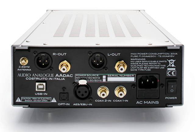 audio analogue AAdac connexions
