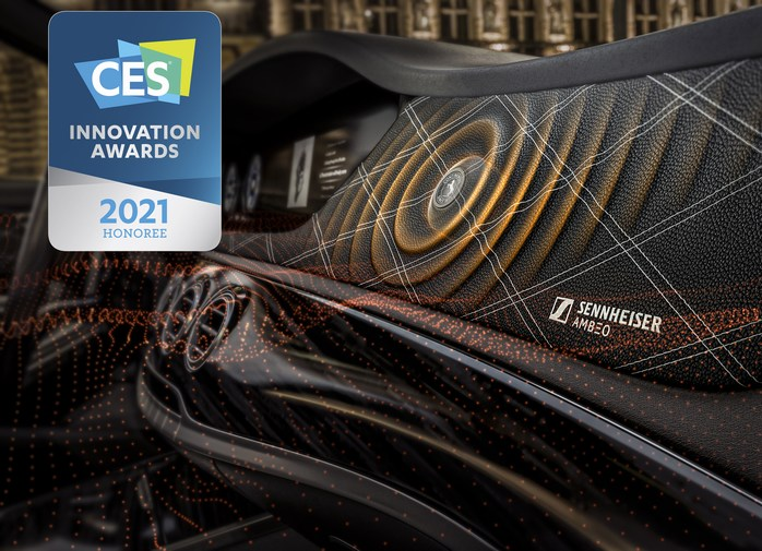 Continental Ac2ated Sound Sennheiser AMBEO Mobility Detail innovation awards CES 2021