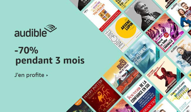 promo audible 70pourcent 3mois