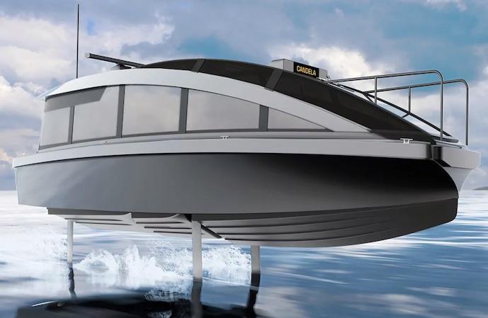 Candela C7 electric taxi boat flying foil 04